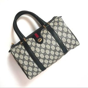 Authentic Gucci Vintage GG Monogram Boston Handbag